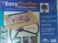 """Portable Griddle/ Barbeque """"Easy Cooker"""". New in box."""