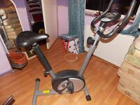 Execise equipment 6 items including Exercise bike