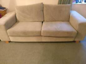 Sofa green and arm chair