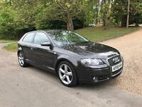 Audi A3 2.0 Sport TDI 3 Door, 140 bhp, 2008, Grey, 6 Speed Manual, Cam-Belt Changed,1 Previous Owner