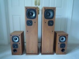 Castle Avon and Castle Tay speakers. Excellent in walnut veneer.