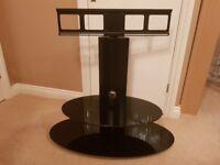 Alphason Grandino Cantilever Oval TV Stand & Swivel Bracket in Black