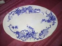 Plate for meat joint, victorian