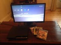 Sony PlayStation 3 Slim 120GB + games