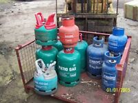 EMPTY GAS BOTTLES