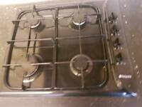 Black hotpoint gas hob