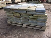 RECLAIMED NATURAL SOLID SLATE PAVING - LARGE STOCK AVAILABLE.