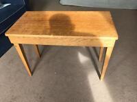 Vintage oak piano bench seat table