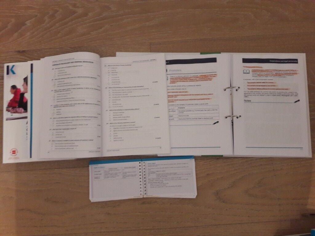 ACCA F4 F5 F6 F7 F8 F9 Study book, workbook, exam kit, pocket notes | in  Greenford, London | Gumtree