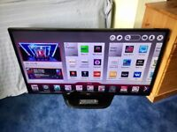 LG 42 INCH SMART LED INTERNET TV WITH FREEVIEW HD BUILT IN.