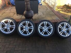 bmw 18inch 400m alloys and tyres