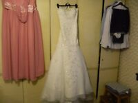 Stunning beaded fit and flare wedding dress NEW