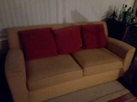 M&S Gold Sofa