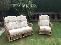 Conservatory/Garden Room Furniture - sofa and chair, used, good condition