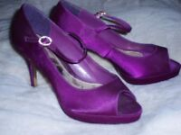 Fushia pink diamonte party shoes new size 6 (other items)