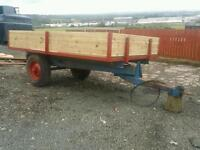 Massey ferguson tractor tipping trailer with new metal and wood