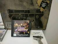 PlayStation 1 Game Time Crisis with manual and Boxed Joy tech real arcade light gun