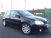 2005(Dec 55) VOLKSWAGEN GOLF 2.0 GT TDi 4MOTION - 3 Dr Hatchback -Diesel-Manual-BLACK*4 Wheel Drive*