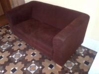 medium size brown suede fabric sofa in very good condition can deliver