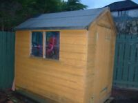 Shed with window for sale, due to garden restructure