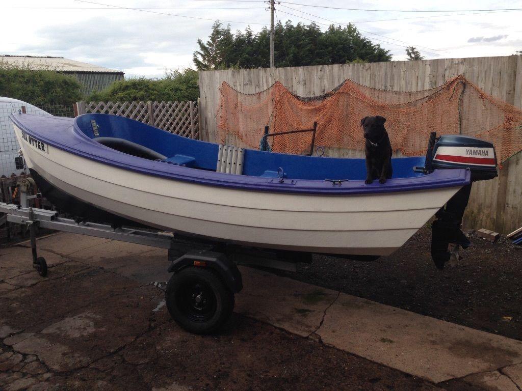 14ft pebble coble open fishing boat with yamaha 9 5 2 for Yamaha fishing boats