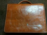 Mont Blanc Leather Messenger/Laptop Bag (New)