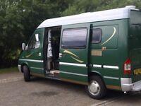 mercedes diesel 3 berth campervan with reversing cameras