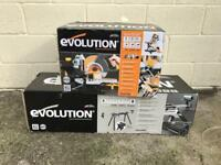 Evolution Sliding Mitre Saw and Stand