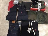 Brand New Bundle of Men's Designer Clothes. Armani, Ralph Lauren, North Face, Nike
