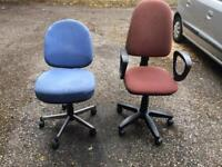 2 Swivel chairs (BROWN CHAIR SOLD)