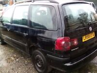 2008 VW Sharan 1.9tdi Auto, Spares or Repair, Start and drives, Mot till 2018