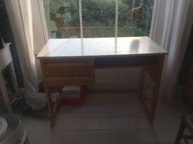 Solid Wooden Desk Cream top
