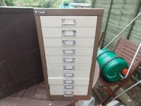 10 Draw filling cabinet ideal for small tool storage not a tin pot 1