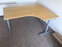 Office Corner Desk, IKEA BEKANT, adjustable height