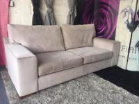 New Furniture Village Fifth Avenue Large 3 Seater Sofa In Velvet Platinum