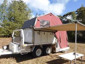 Camper Trailer -Slide on-Utility Camper and dual axle trailer Kurrajong Hawkesbury Area Preview