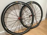 Mavic Ksyrium Elite Road Bike wheels, 700C, quick release, tyres and inner tubes included, serviced