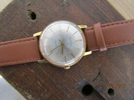 WOSTOK 18 Jewels Vintage Gold plated 70s RUSSIAN SOVIET MEN'S WRIST WATCH