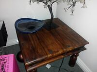 coffee table solid wood brown 24x24 only £25