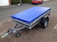 BRAND NEW BRENDERUP 1205s CAR BOX TRAILER with flat cover