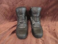 Motorcycle boots-size 44,Nearly new,Brand RKS,Leather,Water resistant