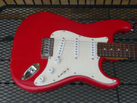 Crafter Cruiser Stratocaster. New set-up and strings.