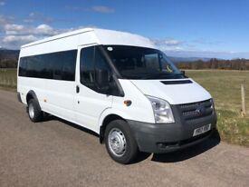 Ford Transit 135 Bhp LWB Minibus / crewbus March 22 MOT 2013 ideal Camper conversion NO VAT