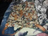 Girls pack bag