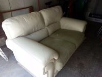 2 Seater Leather Sofa (FREE for pickup)