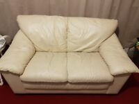 FREE 2 seater leather sofa. NEEDS GONE BY 8PM TONIGHT