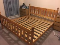 Super King Solid Pine Bed Frame