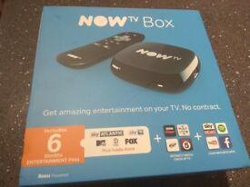 Now TV Box Brand New - No Pass