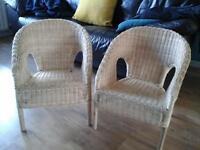 Childrens wicker chairs