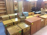 Quality used solid wood / pine bedside cabinets / table